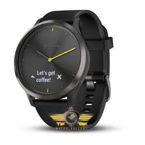 ساعت گارمین GARMIN VIVOMOVE HR BLACK SILICONE BAND