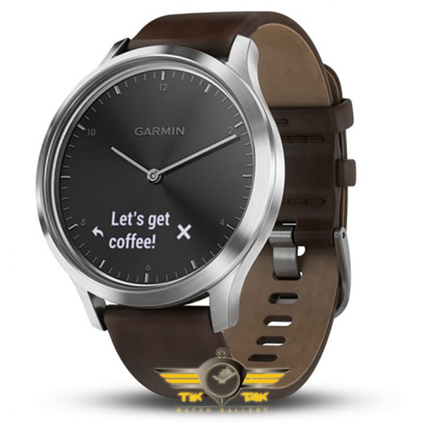 ساعت گارمین GARMIN VIVOMOVE HR SILVER LEATHER BAND