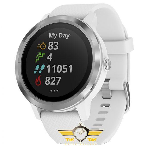 ساعت گارمین VIVO-ACTIVE-3-WHITE-SILICONE-STAINLESS-STEEL. (1)