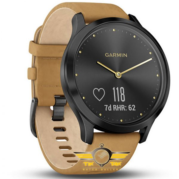 ساعت-مچی-گارمین-GARMIN-VIVOMOVE-HR-PREMIUM-BLACK/TAN